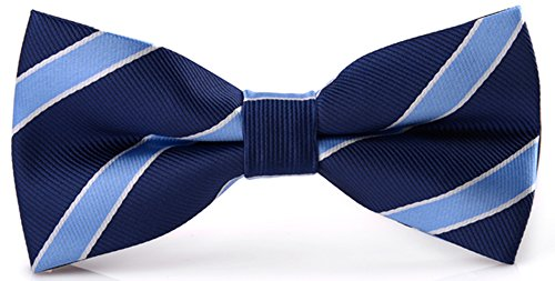 Flairs New York Collection Bow Tie (Midnight Blue / Baby Blue [Stripes])