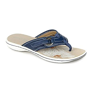 883e34a748a2 Pavers Casual Toe Post with Loop Detail 307 939 - Navy Size 7 (40 ...
