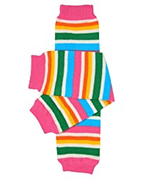 juDanzy retro bright stripe baby girls and toddler leg warmers