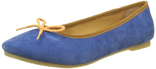 Bleu Orange Baie Bout Bleu Fermé Femme Ballerines Bleu Kickers Orange dzwqFfB0zx