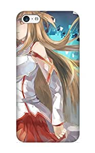 New Snap-on Rightcorner Skin Case Cover Compatible With Iphone 5c- Anime Sword Art Online Sword Online Yuuki Asuna Asuna Sao Anime Art