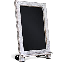 "Rustic Whitewash Tabletop Chalkboard Sign / Hanging Magnetic Wall Chalkboard / Small Countertop Chalkboard Easel / Kitchen Countertop Memo Board / 9.5"" x 14"" . Weddings, Birthdays, Baby Announcements"