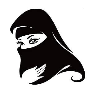 Arabic Muslim Pretty Woman Wall Stickers
