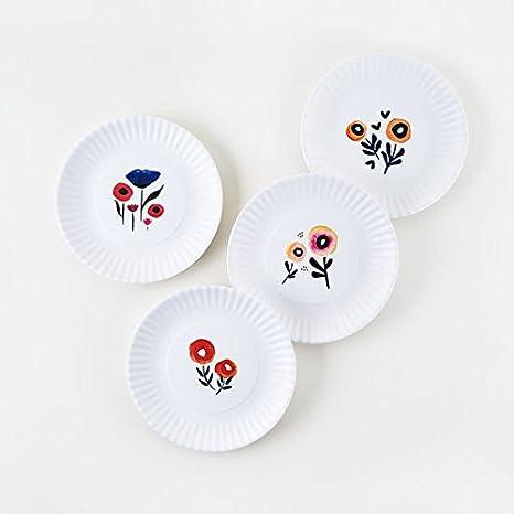 Poppy Plates - Set of Four 7.5u0026quot; Melamine Plates  sc 1 st  Amazon.com & Amazon.com: Poppy Plates - Set of Four 7.5