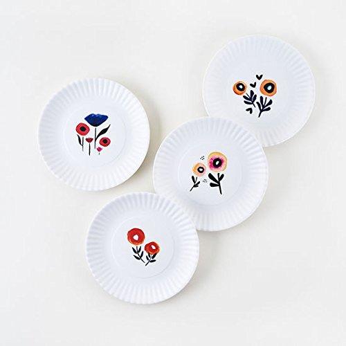 Poppy Plates - Set of Four 7.5'' Melamine Plates