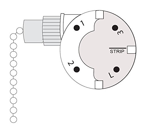 CeilingFanSwitch Zing Ear ZE-268S6 ZE-208S6 Switch 3 Speed Pull Chain Control Ceiling Fan Replacement Speed Control Switch (Nickel) by CeilingFanSwitch (Image #1)