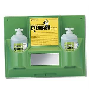 Bel-Art, Scienceware, 248782032, Station, Eye Wash, Double, With/Two Sterile 32oz Eye Wash Bottle