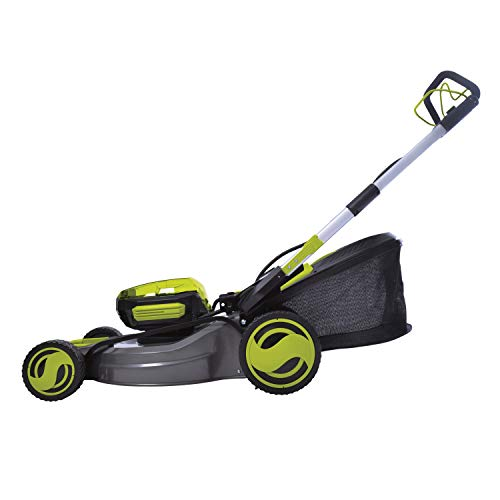 Sun Joe iON100V-21LM-CT 21 in. 100V Max Lithium-iON Cordless Self Propelled Lawn Mower