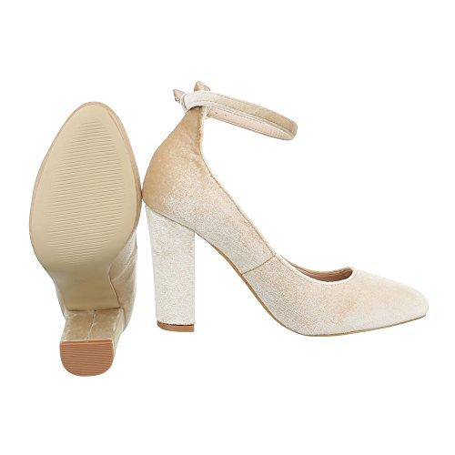 Ital-Design High Heel Pumps Damenschuhe High Heel Pumps Pump High Heels Pumps Beige