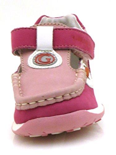 Giesswein - Zapatos de cuero para niños fucsia