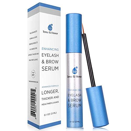Natural Eyelash Growth Enhancer and Brow Serum for Long, Luscious Lashes and Eyebrows ()