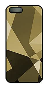 iPhone 5 5S Case Gold Shapes PC Custom iPhone 5 5S Case Cover Black