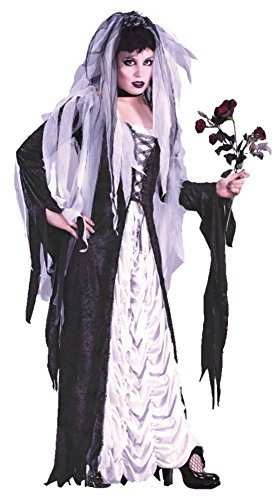 Funworld Womens Deluxe Frankenstein Bride Of Darkness Theme Party Fancy Costume, Small/Medium (Plus Size Bride Of Frankenstein Costumes)