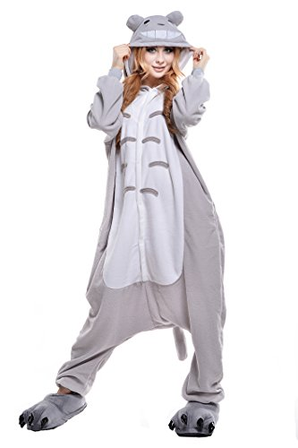 NEWCOSPLAYAdult Anime Unisex Pyjamas Halloween Onesie Costume (L, Totoro) from NEWCOSPLAY