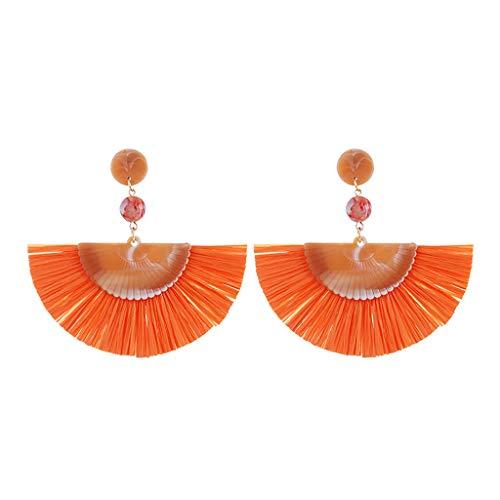 (FIged Beaded Tassel Earrings, Statement Laniyah Fringe Drop Earrings for Womens Gift for Her, Mom, Sister and Friend)
