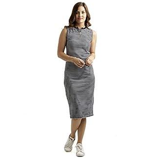 Miss Chase Women's Black and White Striped Midi Dress 41JAn7z6MTL