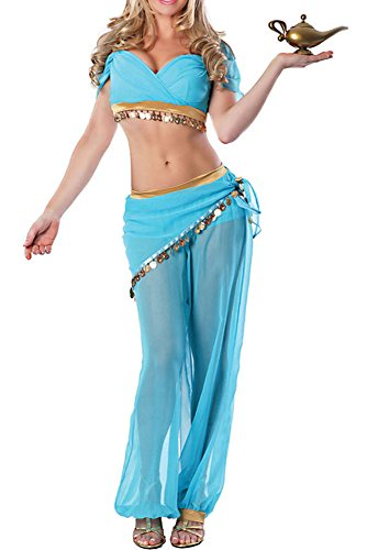 Womens Harem Sexy Dreamy Genie Theme Party Fancy Halloween Costume ()