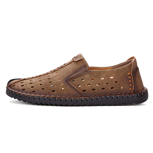 Thadensama Breathable Leather Casual Shoes Men Summer Beach B07GP36PGH Loafers Slip-On Design Sneakers Flat Outdoor Adult... B07GP36PGH Beach Shoes 983292