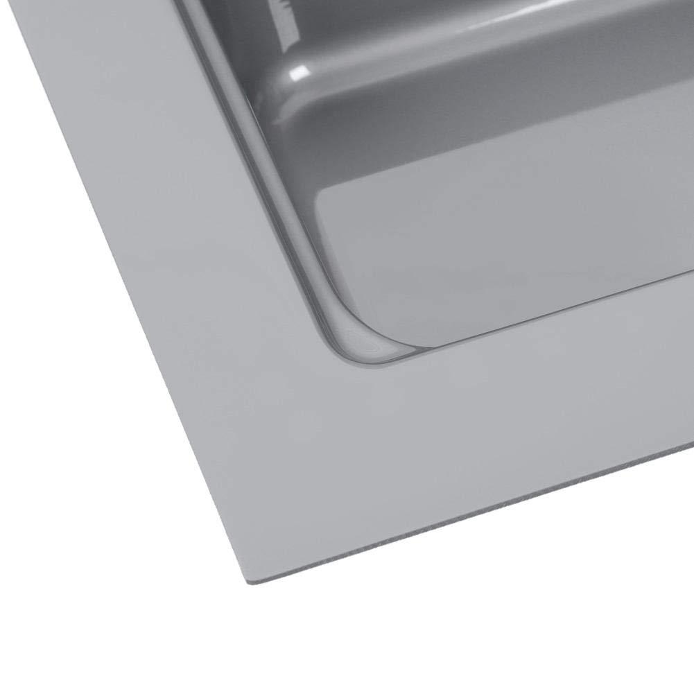 Vassoio Portaposate Estraibile da Cassetto in PP Plastica 48 x 78 cm Grigio Portaposate da Cassetto 80 cm