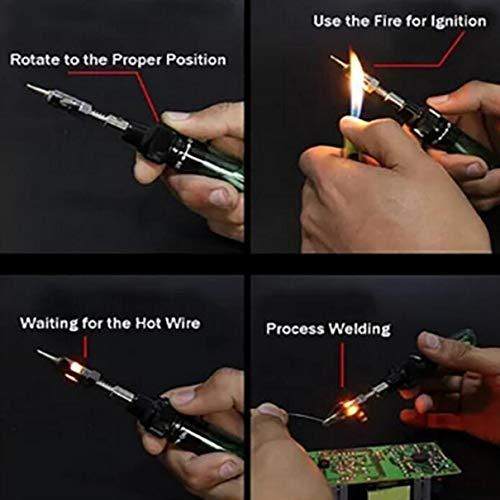 1300 Degree Gas Blow Torch Soldering Solder Iron Cordless Butane Tip Tool Welding Pen Burner 8ml Welding Soldering Kit