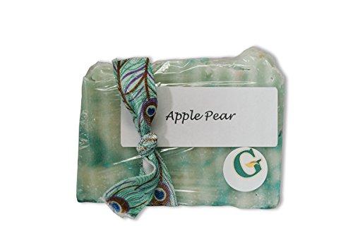 Amish Hand-made Organic Soaps Apple Pear, Average 5 Oz. (Apple Bar Soap)