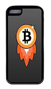 for iphone 6 plus 5.5 Case Bitcoin Rocket TPU for iphone 6 plus 5.5 Case Cover Black