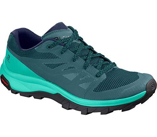 (Salomon Women's Outline Hiking Shoes, Hydro./Atlantis/Medieval Blue, 9 M US)