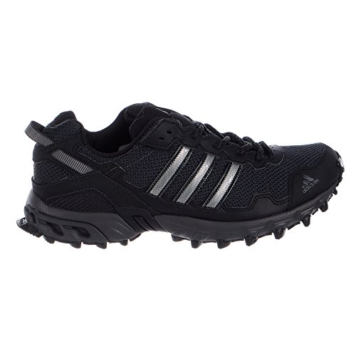 Adidas Men's Rockadia Trail M Running Shoe, Black/Black/Dark Grey Heather, 10 M US