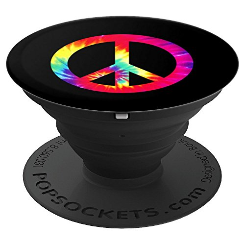 PEACE SIGN Tie Dye Design | Hippies Christmas Arts - PopSockets Grip and Stand for Phones and Tablets