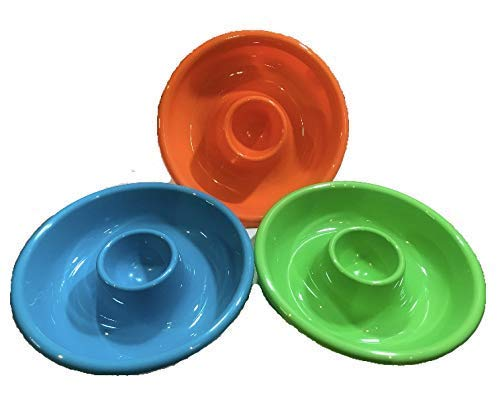 (Chip & Dip Trays Set of 3 Stackable Hard Plastic (3) )