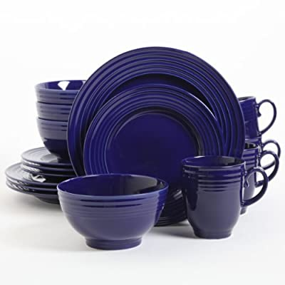 Gibson Home Stanza 16 Piece Dinnerware Set - Sets Include: 4 Piece 10.5 Inch Dinner Plate, 4 Piece 8.5 Inch Dessert Plate, 4 Piece 6 Inch Cereal Bowl, 4 Piece 15oz Mug Dishwasher and Microwave Safe Service For Four - kitchen-tabletop, kitchen-dining-room, dinnerware-sets - 41JAp7fa8FL. SS400  -