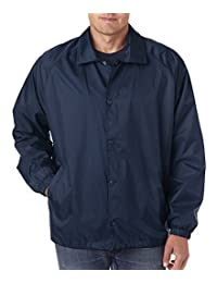 UltraClub Men's Wind-Resistant Coaches Jacket. 8944