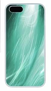 iPhone 5S Case - Customized Unique Design Aero Green 6 New Fashion PC White Hard