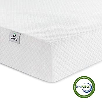Image of Baby Dourxi Crib Mattress and Toddler Bed Mattress, Dual Sided Sleep System, Firm Side for Infants and Plush Soft Side for Toddlers, Breathable Foam Baby Mattress with Removable Cover