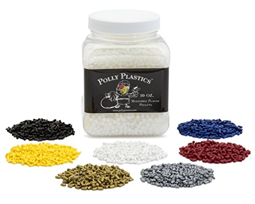 Polly Plastics Moldable Plastic and Color Pellet Kit | Perfect for Cosplayers and Hobbyists | Make 3D Models, Tools, Home Accessories, and Cosplay Accessories -