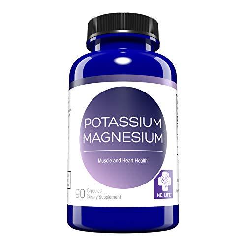 MD. Life Magnesium Potassium Supplement – 90 Capsules – High Absorption Magnesium Complex – Magnesium and Potassium for…