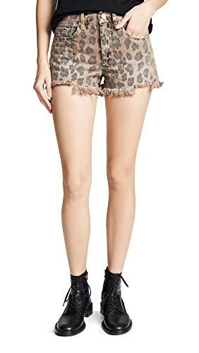 [BLANKNYC] Blank Denim Women's Cutoff Shorts, Catwalk, Print, Tan, ()