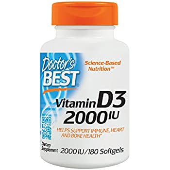 Doctor's Best Best Vitamin D3 2000 IU, Softgel Capsules, 180-Count