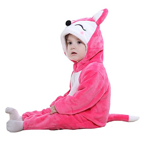 Tonwhar Unisex-baby Red Fox Animal Romper Suit Costume (90(Height:29