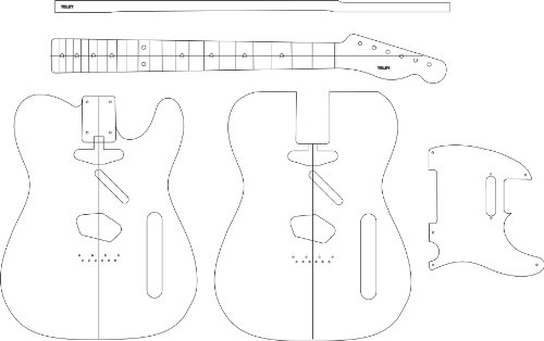 Electric Guitar Layout Template - teley