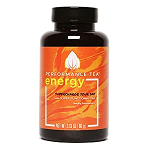 Performance Tea Energy - Instant Natural Energy Drink with Adaptogens(10 Instant Packets)Super Functional Tea with No Sugar and All-Natural Ingredients that Taste Great for Convenient Sustained Energy 60