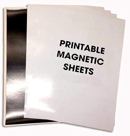 5 hojas A4 magnético papel fotográfico brillante ...