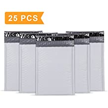 """UCGOU 6x10"""" Poly Bubble Mailers White Padded Envelopes For Easy CD or DVD Insertion Pack of 25"""