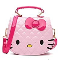 Fashion Mini Waist Bag for Little Girls Cartoon Kitty Single Shoulder Cross Body Bag for 4-12 Years Girls