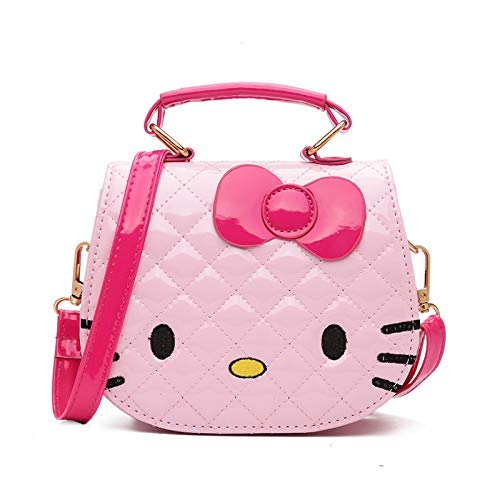 Beebeerun Baby Girl s ABS Pink Cartoon Kitty Bag Single Shoulder Cross Body  Bag (4- 6a2d0762c2ef4