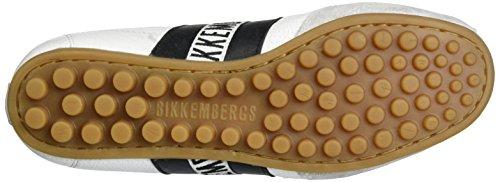 Bikkembergs Kvinna Velcro Logo Gymnastiksko Bke106681 Vit / Svart 38 (oss 8) B - Mediet