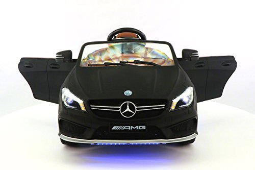 Moderno Kids Mercedes CLA45 Children Ride-On Car with R/C Parental Remote 12V Battery Power LED Wheels Lights + 5 Point Seat Belt + MP3 Music Player