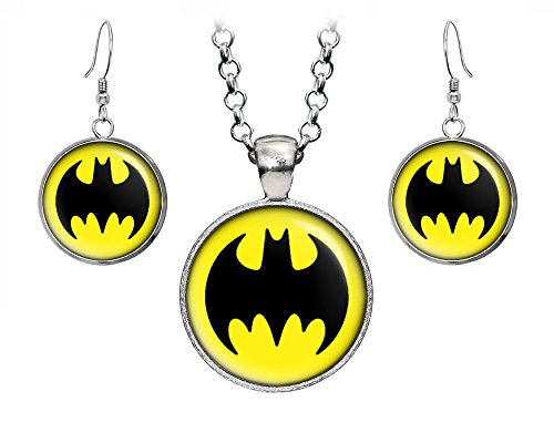 DC+Comics Products : Batman Necklace, Suicide Squad Justice League Necklace, Superman Earrings, The Dark Knight Pendant, DC Comics Jewelry, Wedding Party, Geek Gift Geeky Gifts Nerd Nerdy Presents