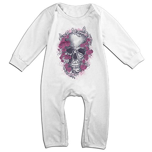 [Raymond Grateful Dead Long Sleeve Romper Bodysuit Outfits White 18 Months] (Turban And Beard Costume)