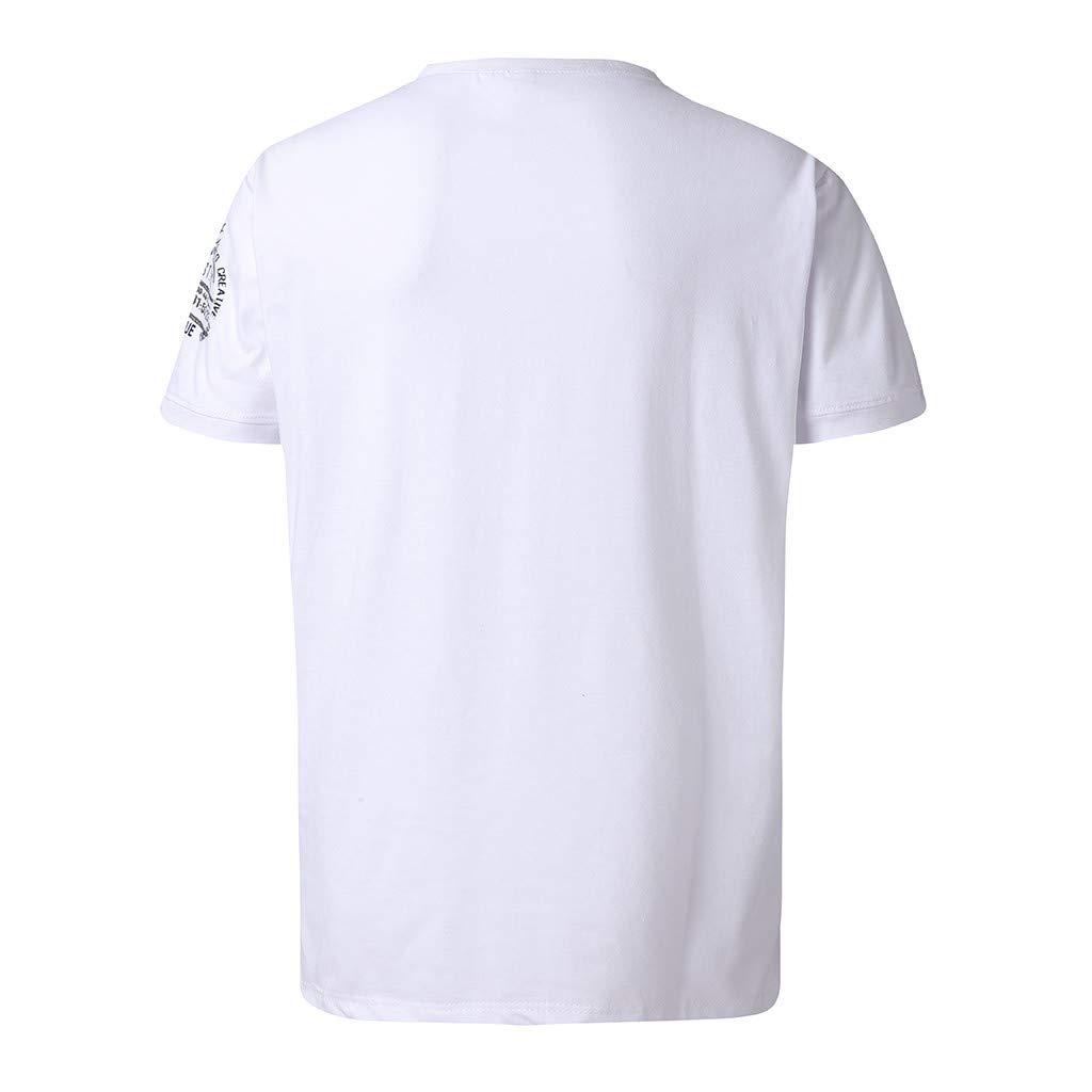 Mode Loisirs Caract/éristiques Bouton Personnalit/é Chemise D/écontract/é routinfly T-Shirt Hommes Marque d/Ét/é V/êtements /à Manches Courtes